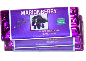 Marionberry White Chocolate Candy Bar