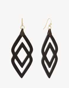 Deco Drama Leather Earrings
