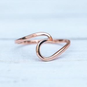 "Pura Vida Rose Gold ""Wave"" Ring"