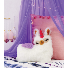 Load image into Gallery viewer, Sew Your Own Furry Llama Pillow Kit