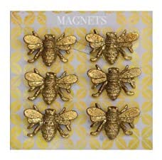 Gold Bee Magnets; Set of 6