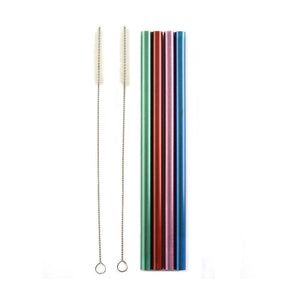 Metallic Color Reusable Straws