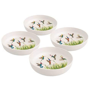 Meadow Buzz Bamboo Bowls; Set of 4