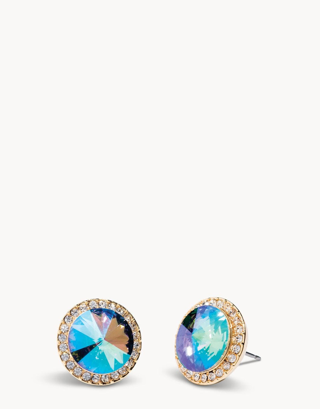 Rivoli Stud Earrings Iridescent