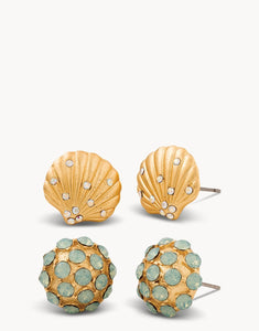 Sea Stud Earrings Shell Set