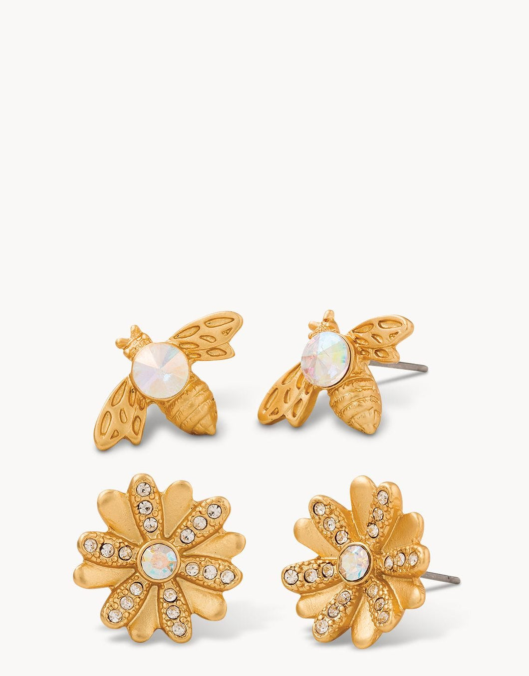 Bee Stud Earrings Set of 2