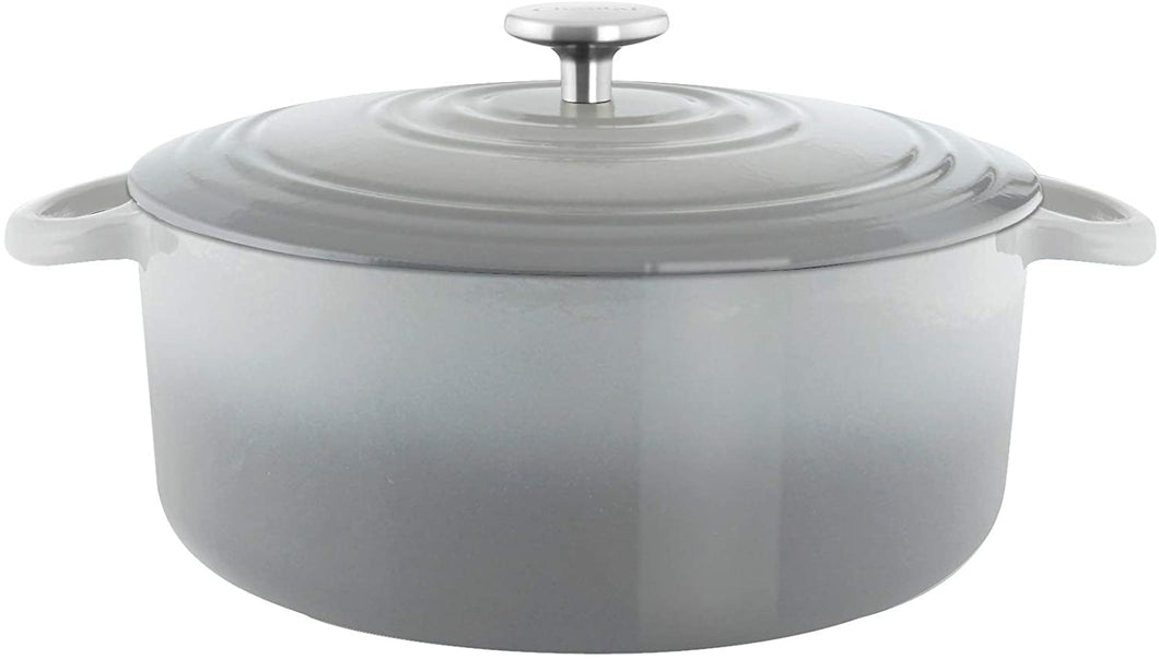 5.6Qt Cast Iron Dutch Oven Grey