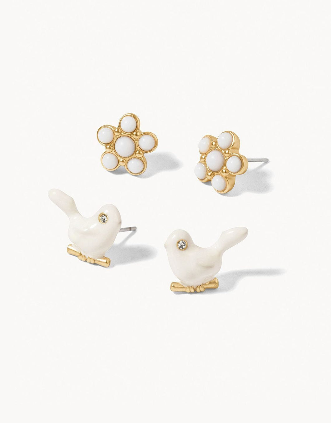 Songbird Stud Earrings Set of 2