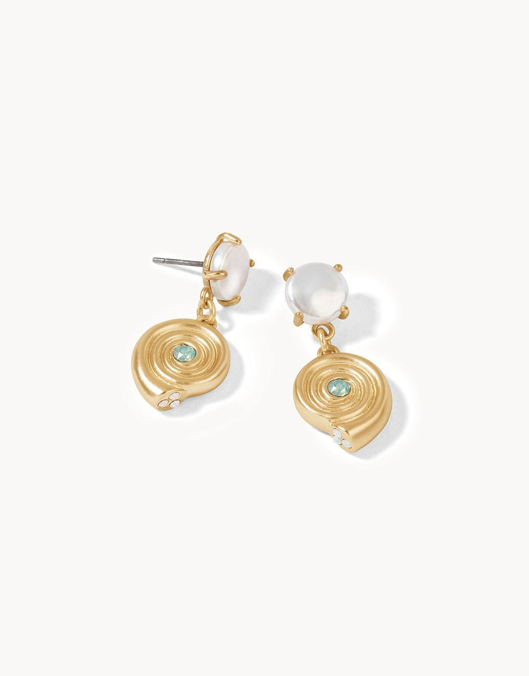 Moon Shell Earrings Pearl