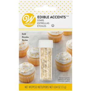 Edible Gold Star Accents