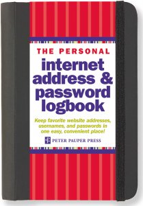 Personal Internet Address & Password Logbook