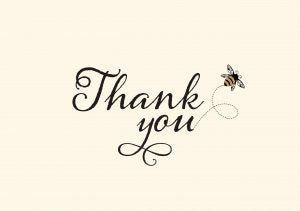 Bumblebee Thank You Boxed Notes