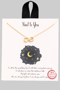 Star & Moon Charm Necklace