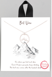 Silver Mountain View Necklace