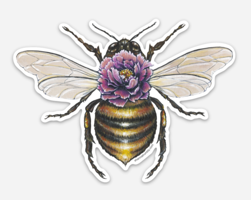 Bee Sticker by Shanna Trumbly