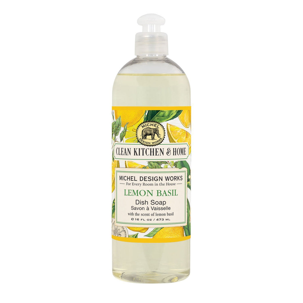 Michel Design Works Lemon Basil Dish Soap 16 fl oz