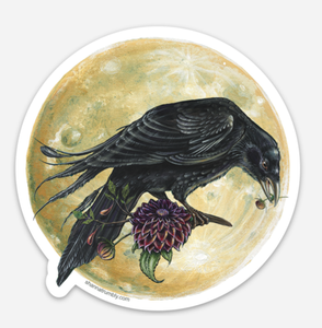 Crow & Moon Sticker by Shanna Trumbly
