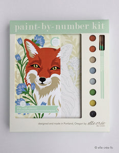 Elle Cree Fox with Chicory Paint by Number Kit