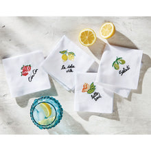 Load image into Gallery viewer, Set of 4 Fabric Cocktail Napkins