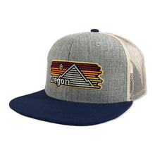 Load image into Gallery viewer, Oregon Horizons Flat Bill Trucker Hat