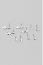 Load image into Gallery viewer, Starburst Earring Stud Set