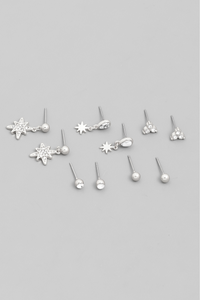 Starburst Earring Stud Set