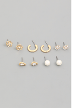 Load image into Gallery viewer, Pearl Earring Stud Set