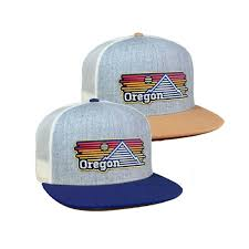 Oregon Horizons Flat Bill Trucker Hat