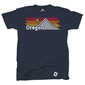 Oregon Horizons Navy Tee Shirt