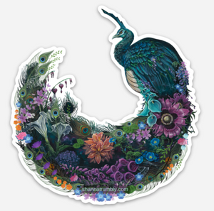 Peacock Sticker by Shanna Trumbly
