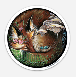 Round Fox Sticker by Shanna Trumbly