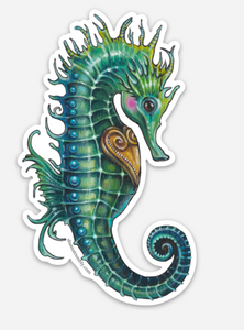 Seahorse Sticker by Shanna Trumbly