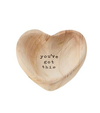 Load image into Gallery viewer, Wooden Heart Trinket Tray