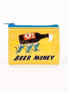Blue Q Beer Money Coin Purse