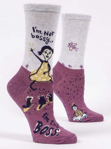 Blue Q I'm Not Bossy, I'm The Boss Crew Socks