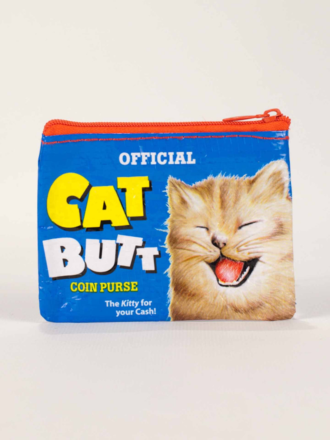 Blue Q Cat Butt Coin Purse