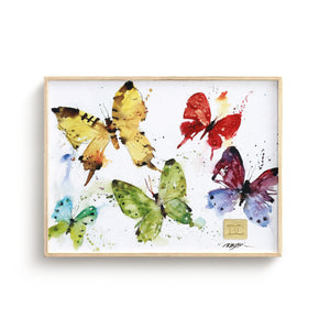 Flock of Butterflies 8x6 Wall Art by Dean Crouser