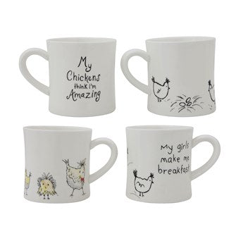 14oz Assorted Chicken Mugs