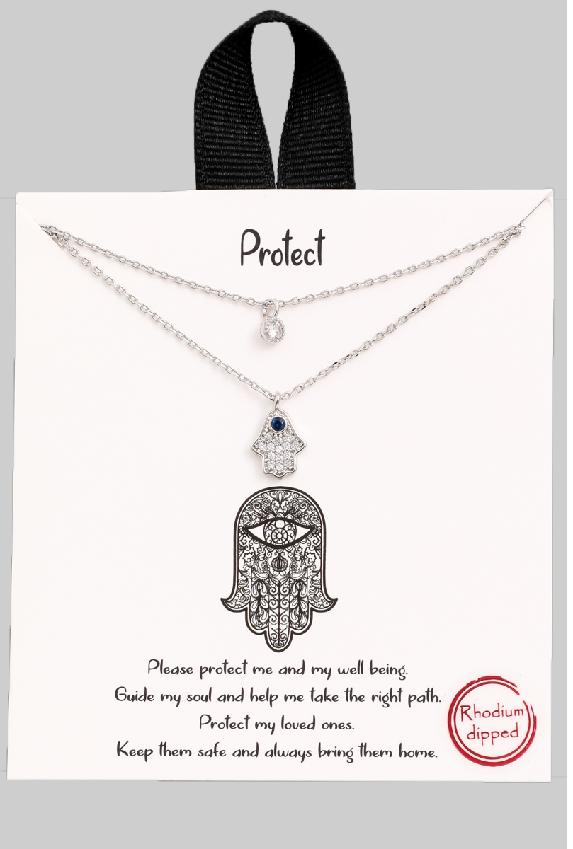 Layered Hamsa Necklace