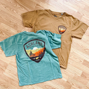 Siskiyou National Forest Ashland, Oregon Tee Shirt, Green