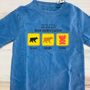 Bear Identification Cotton Tee Shirt, Kids' Sizes, Pacific Blue