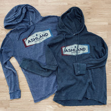 Load image into Gallery viewer, Ashland, Oregon Waffle Hoodie, Navy