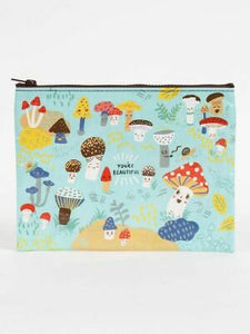 Blue Q Cute Lil' Mushrooms Zipper Pouch