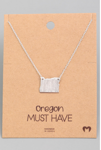 Silver Oregon Necklace