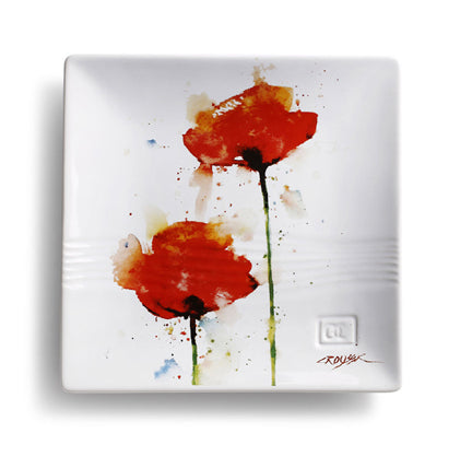 Poppy Snack Plate by Dean Crouser