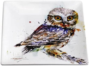 Saw Whet Owl Snack Plate by Dean Crouser