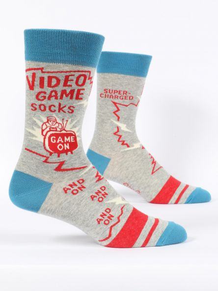 Blue Q Video Game Mens Socks