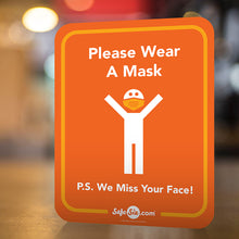 Load image into Gallery viewer, Please Wear A Mask Counter Sign