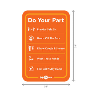 Do Your Part Decal, Window / Wall – Large