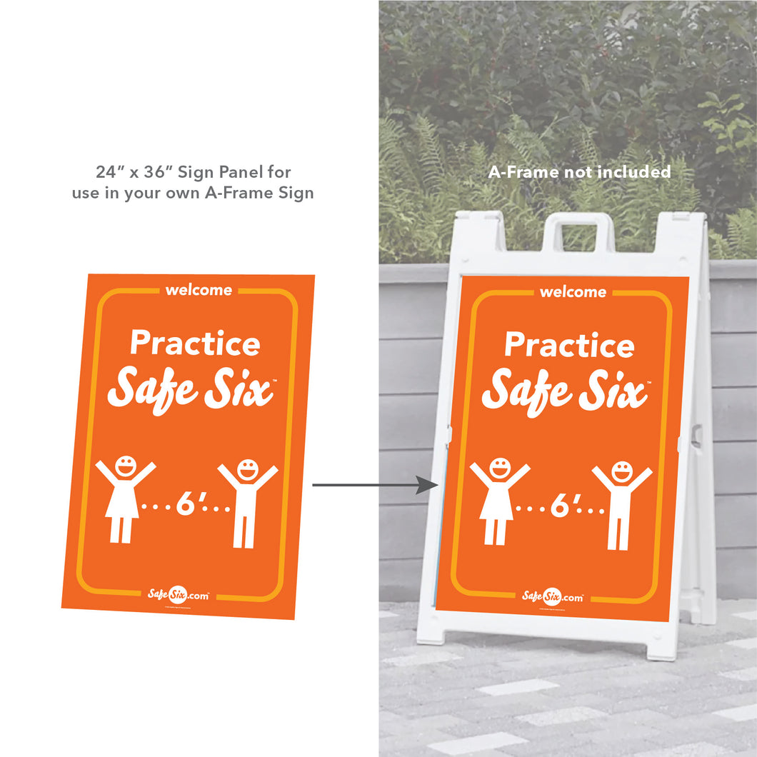 Safe Six A-Frame Sign (Sign Panel Only)